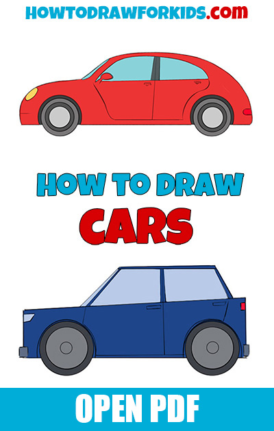 How to draw cars PDF book