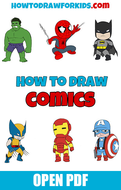 How to draw comics PDF book