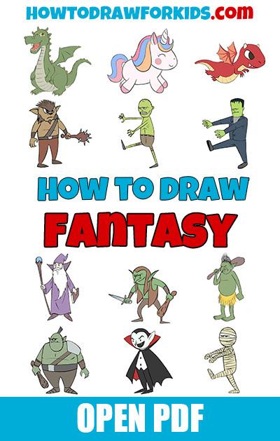 How to draw fantasy PDF book