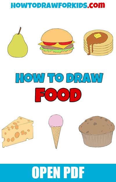 How to draw food PDF book