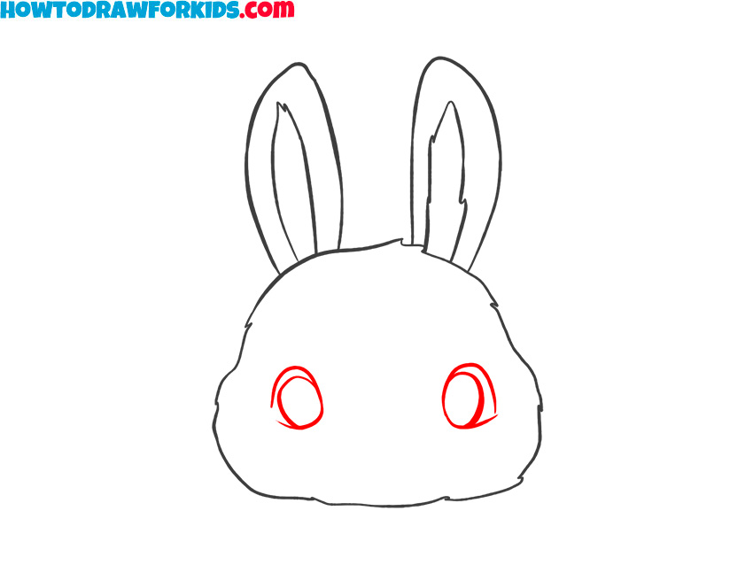 how to draw a cute bunny face