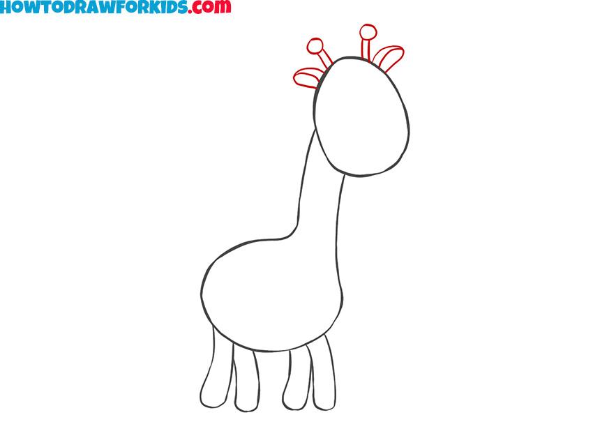 Easy giraffe drawing tutorial for kids