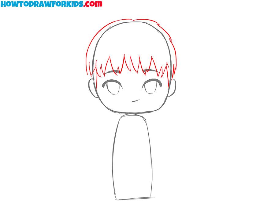 boy sketch for kids