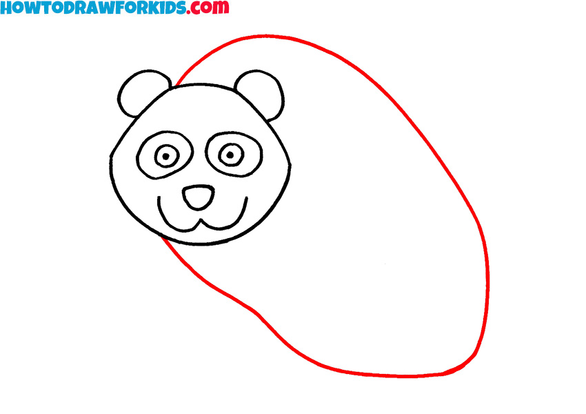 4 how to draw a panda easy