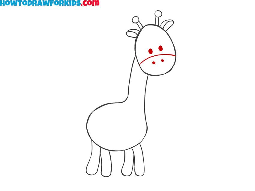 giraffe drawing tutorial