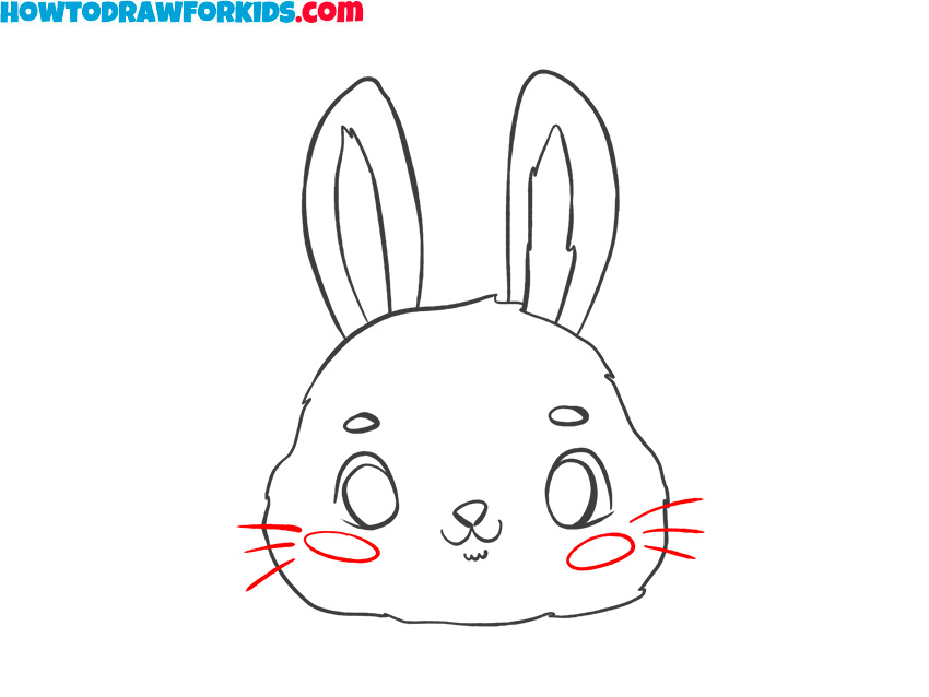 how to draw a bunny face for kids