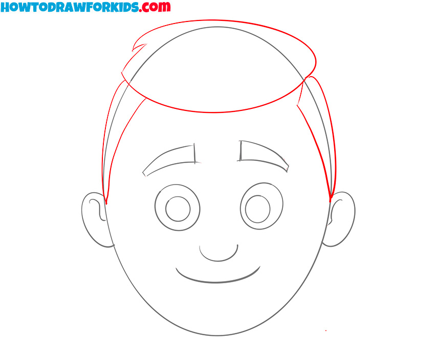 how to draw a head for kids