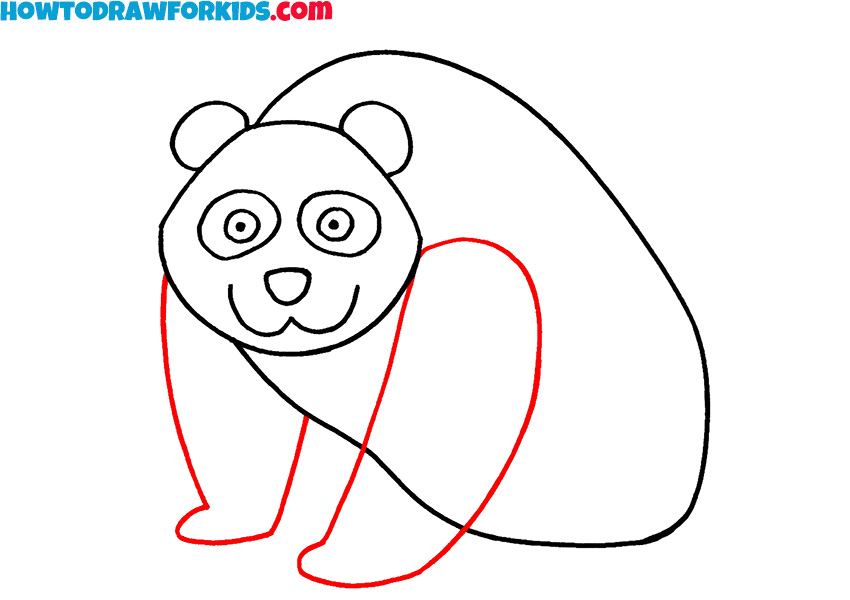 5 how to draw a panda step by step