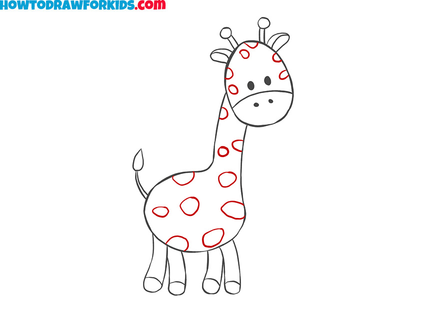 How to draw a giraffe for kids