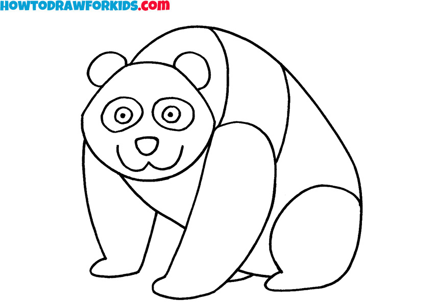 8 panda drawing