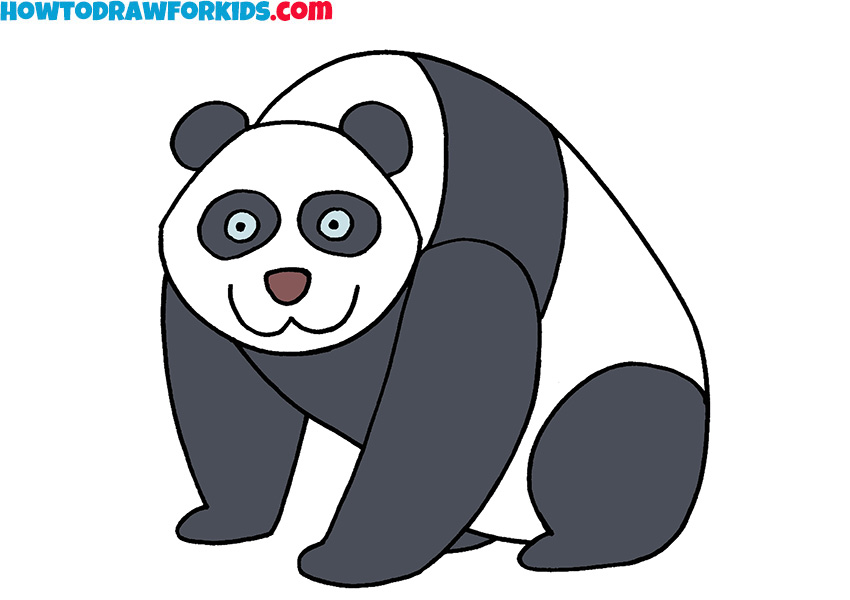 9 how to draw a panda
