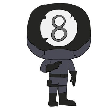 How to Draw 8-Ball from Fortnite