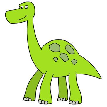 How to Draw a Simple Dinosaur