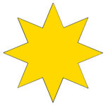 How to Draw an Eight-Pointed Star