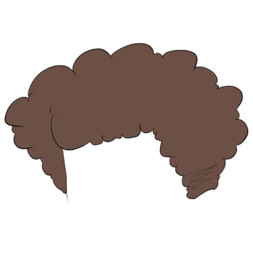 How to Draw Male Curly Hair