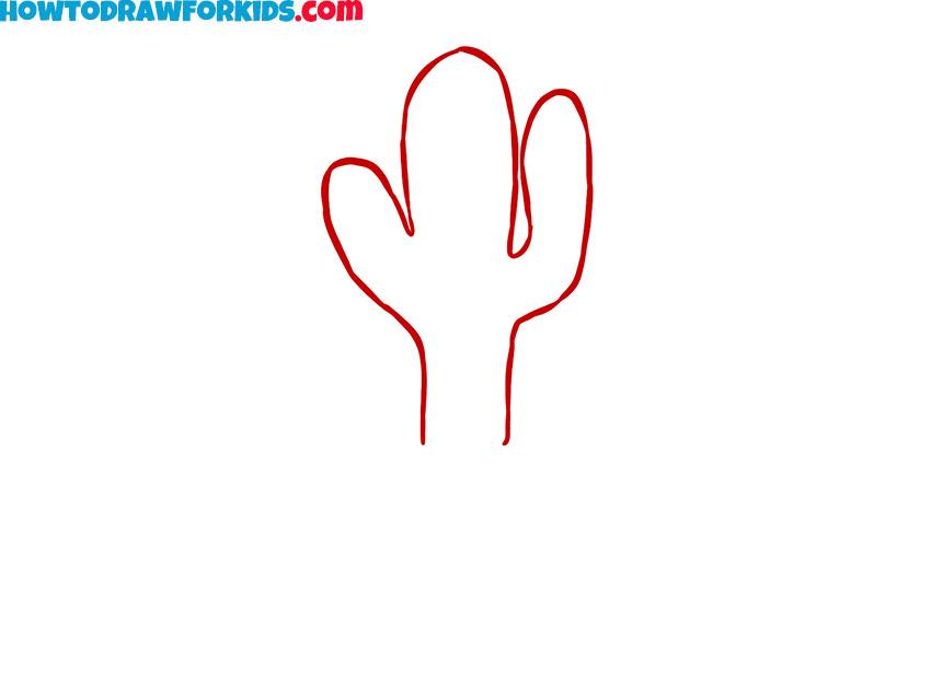 cactus drawing tutorial