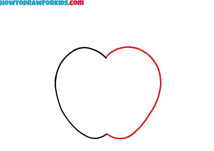 simple apple drawing lesson