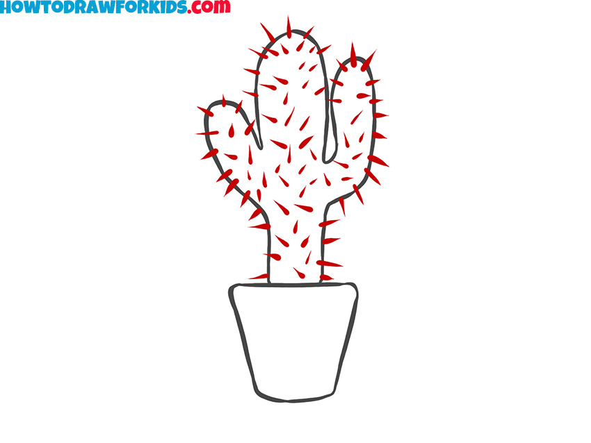 How to draw a cactus for beginners