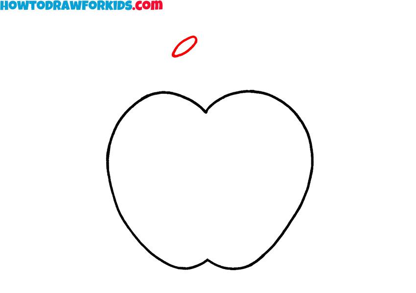 simple apple drawing tutorial
