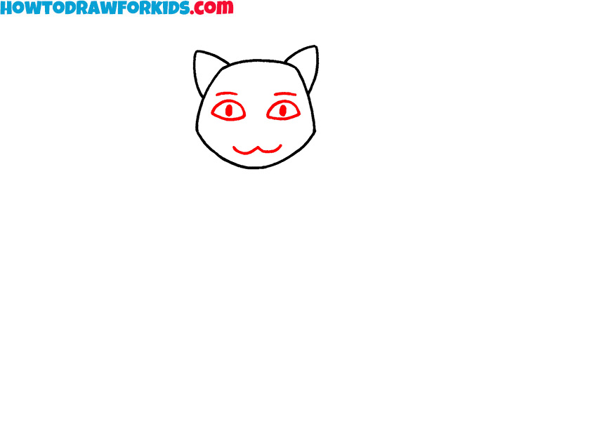 sitting cat drawing lesson
