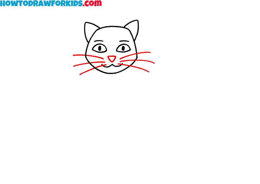 sitting cat drawing tutorial