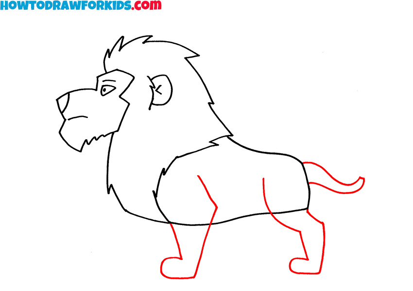 5 how to draw a lion step by step
