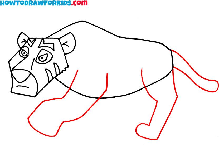 5 tiger drawing instruction