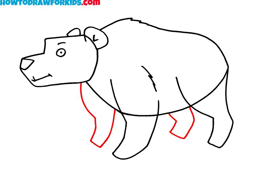 6 bear drawing instruction