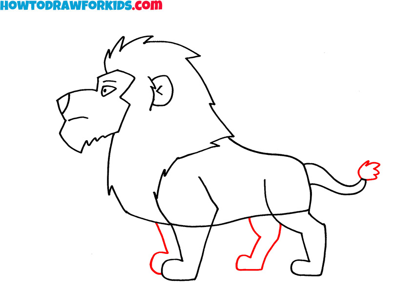 6 how to draw a lion easy step by step