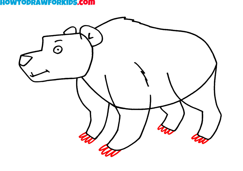 7 how to draw a bear step by step
