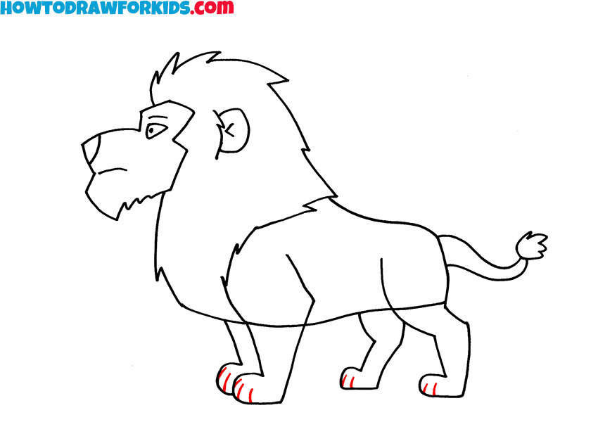 7 lion drawing guide