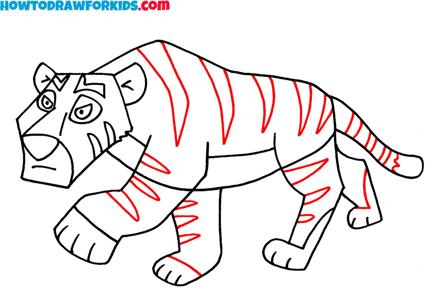 7 tiger drawing lesson