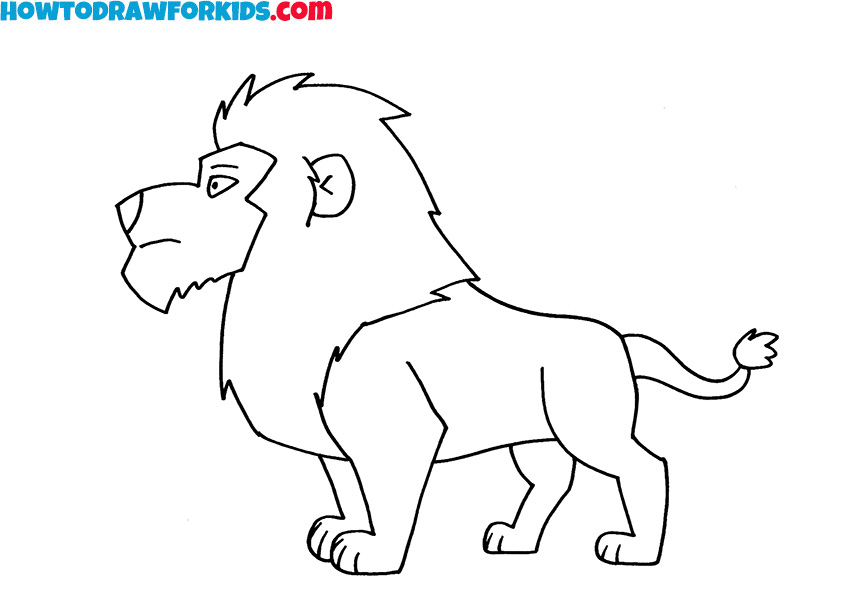 8 lion drawing lesson