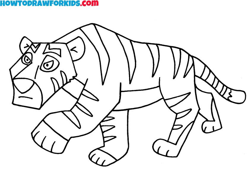 8 tiger drawing
