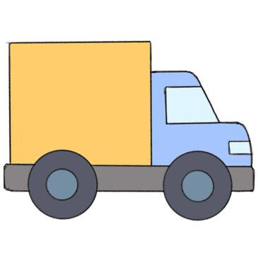 How to Draw a Big Truck for Kindergarten
