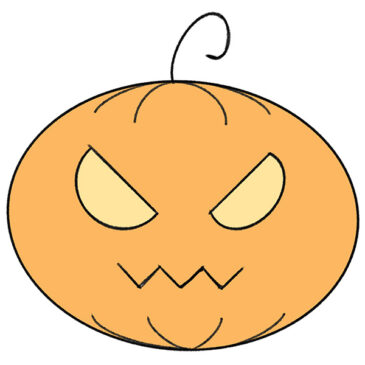 How to Draw a Jack-o'-lantern for Kindergarten