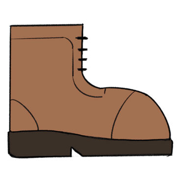 How to Draw a Boot for Kindergarten