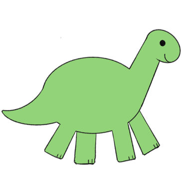 How to Draw a Dinosaur for Kindergarten
