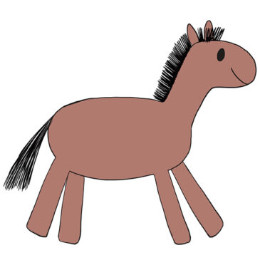 How to Draw a Horse for Kindergarten