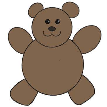 How to Draw a Teddy Bear for Kindergarten