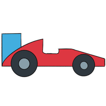 How to Draw a Racing Car for Kindergarten