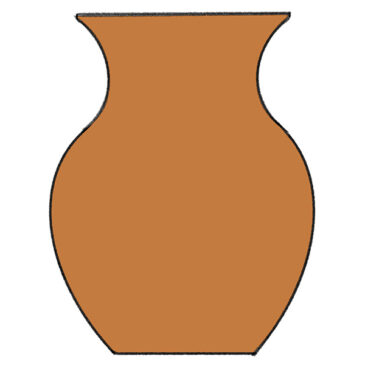 How to Draw a Vase for Kindergarten