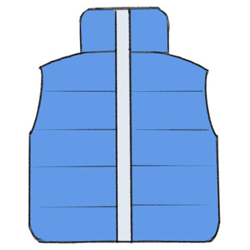 How to Draw a Winter Vest for Kindergarten