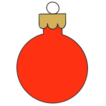 How to Draw a Christmas Bulb for Kindergarten