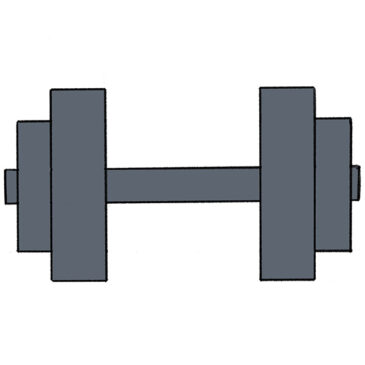 How to Draw a Dumbbell for Kindergarten