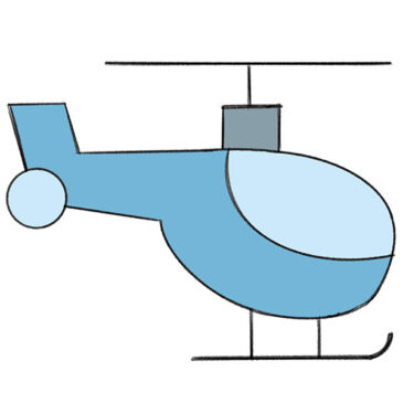 How to Draw a Helicopter for Kindergarten