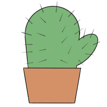 How to Draw a Cactus for Kindergarten