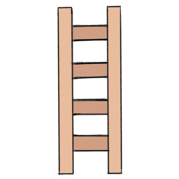How to Draw a Ladder for Kindergarten