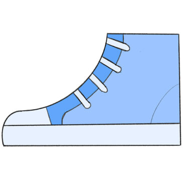 How to Draw a Sneaker for Kindergarten