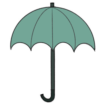 How to Draw an Umbrella for Kindergarten